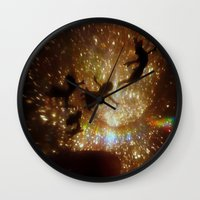 peter pan Wall Clocks featuring Peter Pan by zeebee