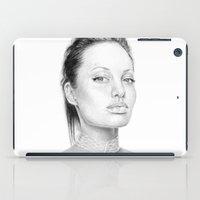 angelina jolie iPad Cases featuring Angelina Jolie  by Olechka