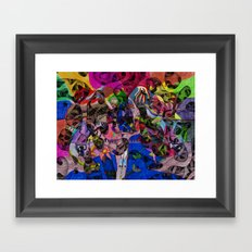 Little bitty bits of time floating freely in the mind Framed Art Print