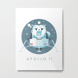 Apollo 11 Lunar Lander Module - Text Slate Metal Print