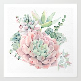 Pink Succulent by Nature Magick Art Print