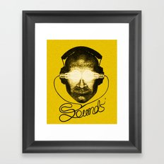 Sounds Framed Art Print