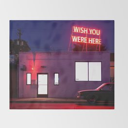Wish You Were Here Throw Blanket