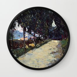 Park in St. Cloud, 1605, Old Masters Collection, Wassily Kandinsky Wall Clock