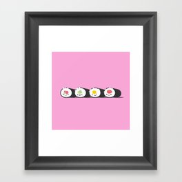 Happy Sushi! - Vector Framed Art Print