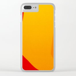 Autumn Abstract Clear iPhone Case