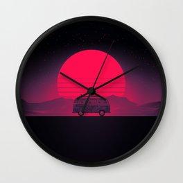 Sunset Van Drive Wall Clock