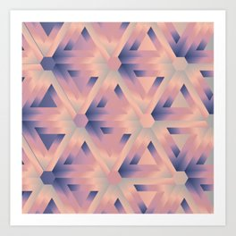 Impossible triangles Optical illusion Art Print
