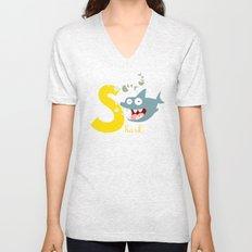 s for shark Unisex V-Neck
