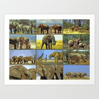 wildlife Art Prints featuring Wildlife by Karl-Heinz Lüpke