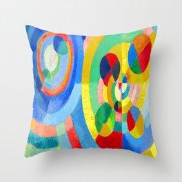 Robert Delaunay Circular Forms III Throw Pillow