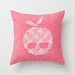 The Nik-Nak Bros. Peachie Deluxe Throw Pillow