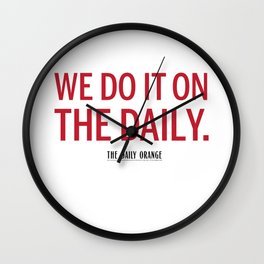 ON THE DAILY Wall Clock