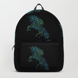 Green and Blue Unicorn Filix Backpack