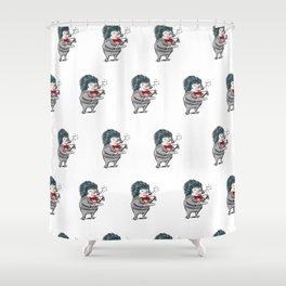 Fancy Hedgehog Tea Time Shower Curtain