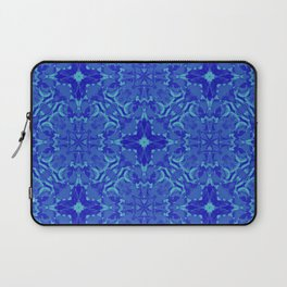 blue gradient flower Laptop Sleeve