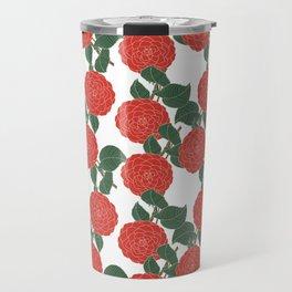 Red Dahlia Travel Mug
