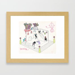Cocktail party at Morgellons House Framed Art Print