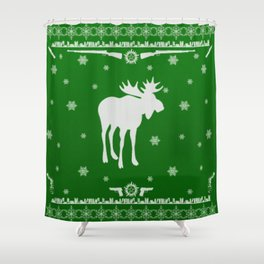 Supernatural Sam Holiday Sweater Shower Curtain