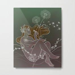 Flowergirl 06 - Dandelion Metal Print
