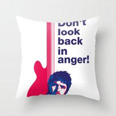 Noel Gallagher - Don't Look Back In Anger 02 Throw Pillow
