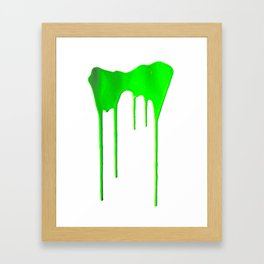 Green Splatter Framed Art Print
