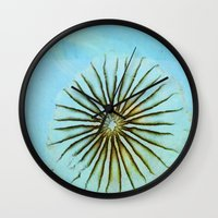 transparent Wall Clocks featuring Transparent-Sea by Bella Blue Photography