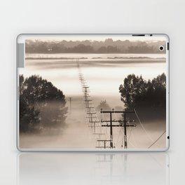 Power lines in the mist Laptop & iPad Skin