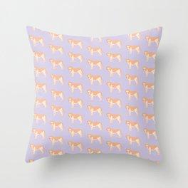 Cute Standing Dog Illustration Pattern Throw Pillow