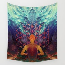 Flower Of Life (The Journey) Wall Tapestry