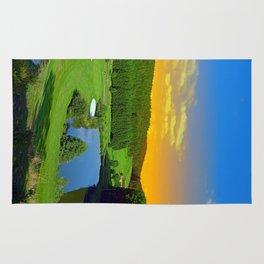 Summer sunset at the golf club | landscape photography Rug