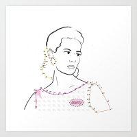 Betty Draper Art Print