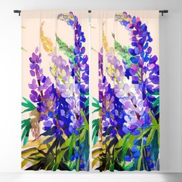 Lupine flowers Blackout Curtain