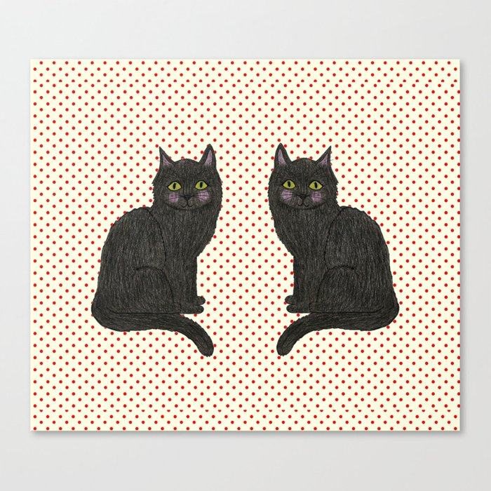Bertie and his Twin Canvas Print