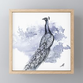 Pretty Peacock Framed Mini Art Print