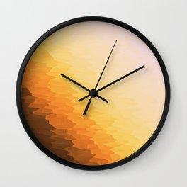 Peach Beige Goldenrod Texture Ombre Wall Clock