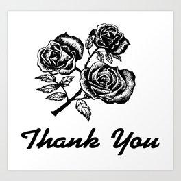 Thank You Roses Art Print