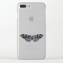 Deathshead Moth Clear iPhone Case