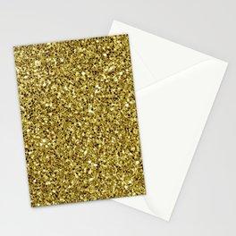 Festive Gold Glitter Stationery Cards