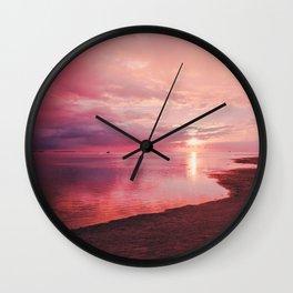 Maldivian sunset 7 Wall Clock
