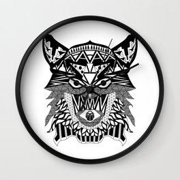 Tenacious Wolf Wall Clock