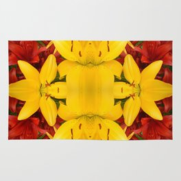 """""""A Gathering of Lilies"""" Remix - 4 (3-1) [D4469~57] Rug"""