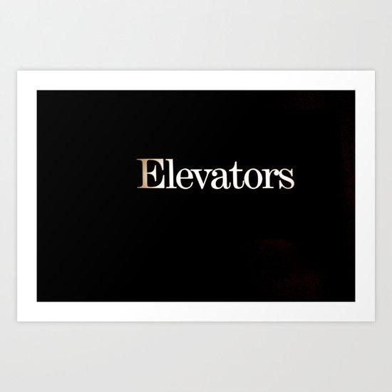 Elevators Art Print
