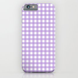 Chic Lilac Purple Gingham iPhone Case
