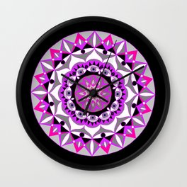 My Love Mandhala | Secret Geometry | Energy Symbols Wall Clock