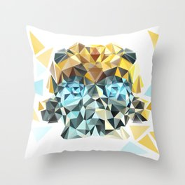 Bumblebee Low Poly Portrait Throw Pillow