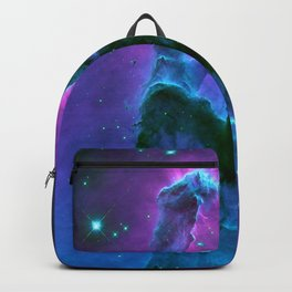 Nebula Purple Blue Pink Backpack