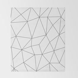 polygonal lines minimal Throw Blanket
