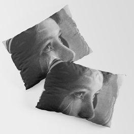 NASA Astronaut, Anna Fisher, black and white photograph Pillow Sham