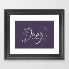 Dawg (Hip Hop Calligraphy II) Framed Art Print
